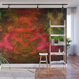 Luminous Fireplace Wall Mural