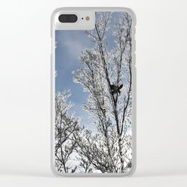 Frosted Dogwood Tree Clear iPhone Case