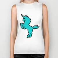 punk rock Biker Tanks featuring Punk rock unicorn by junaputra