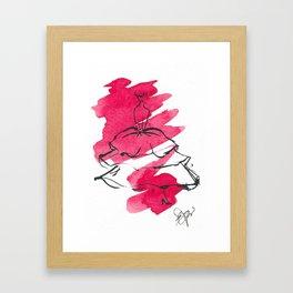 Retro Chic Runway Dress 4 Framed Art Print