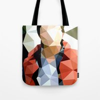 marty mcfly Tote Bags featuring Back to the Future // Marty McFly by VIVA LA GRAPH!