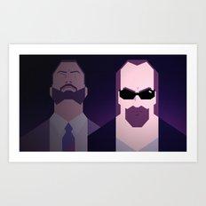 Kane & Lynch Art Print