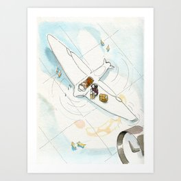 Plane on Water Art Print