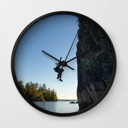 Cliff jumping Wall Clock
