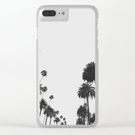 Palm Spring California, Palms Clear iPhone Case