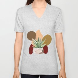 Abstract shapes 9 Unisex V-Neck
