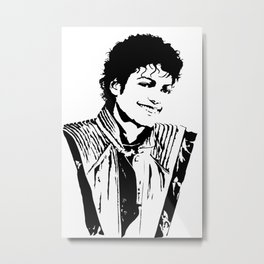 Michael MJ Jackson Thriller Metal Print