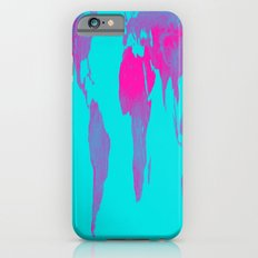 World Map : Gall Peters Turquoise & Pink Slim Case iPhone 6