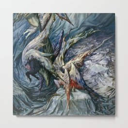 Guardian Angels by Dorothea Tanning Metal Print