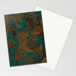 Peacock and Brown Stationery Cards