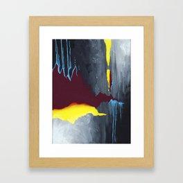 Inside Crystal Mountain Framed Art Print