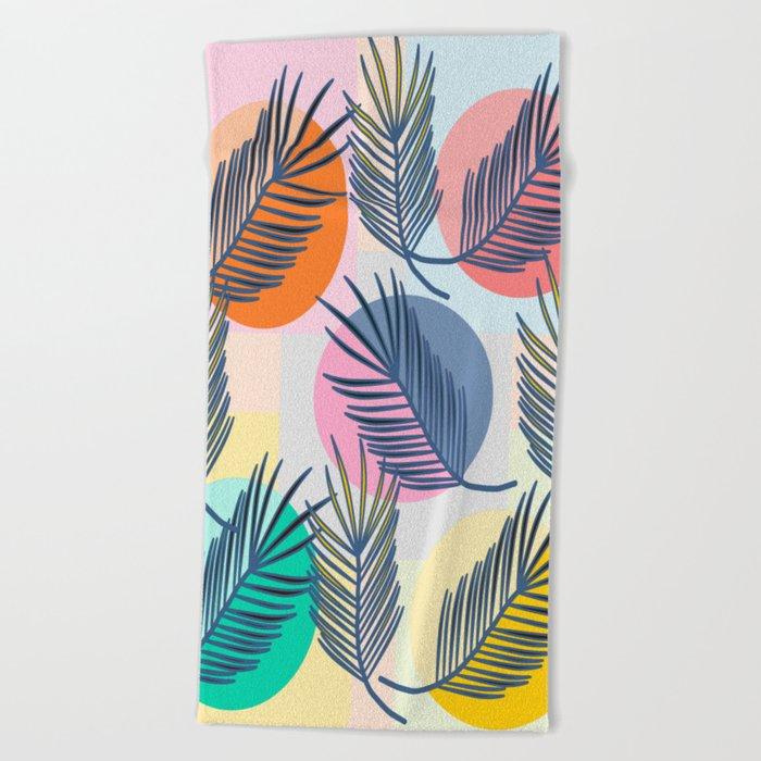 leaves palm Beach Towel