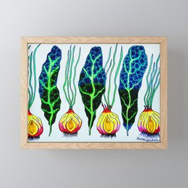 Kale and Onion -- Live Life on the Veg! Framed Mini Art Print