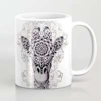 pen Mugs featuring Giraffe by BIOWORKZ