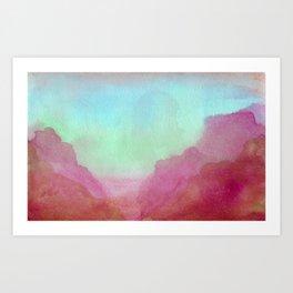 Sunset To Whangamata: Mars Edition Art Print