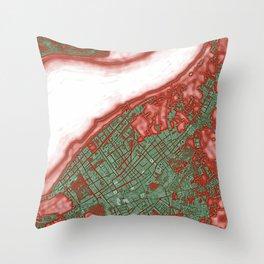 Sanlucar de Barrameda city map pop Throw Pillow