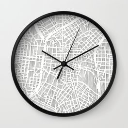 san antonio map print Wall Clock