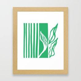 Long Leaf Stripe green Framed Art Print