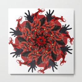 red halloween mandala Metal Print