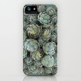 Archie talks (Artichokes) in teal iPhone Case