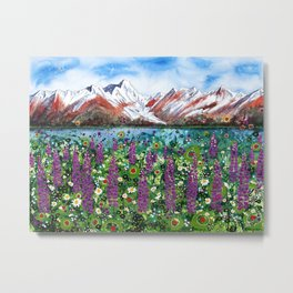 Carpathian in Lupine Metal Print