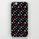 Bold Patriotic Stars In Red White and Blue on Black by taiche
