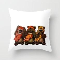 STAR WARS The Three Wise Ewoks Throw Pillow