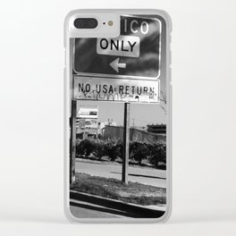 Walking to Mexico Clear iPhone Case