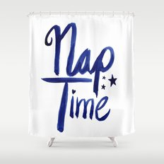 Nap Time | Lazy Sleep Typography Shower Curtain