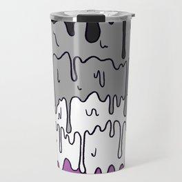 Cute Pride Pastel Melting Pride Design, Asexual  flag Travel Mug