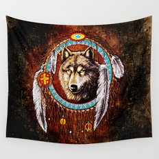 Indian Native Stark Clan Wolf Dream Catcher iPhone 4 4s 5 5s 5c, ipod, ipad, pillow case and tshirt Wall Tapestry
