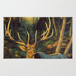 Bull Elk in Autumn Rug