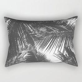 Tropical Black and White Rectangular Pillow