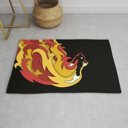 Iron in Flight Rug