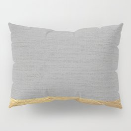 Color Blocked Gold & Grey Pillow Sham