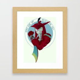 Motivational Shark Prince Framed Art Print