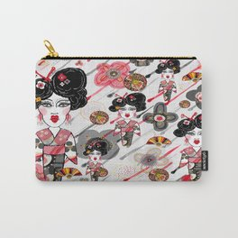 Geisha in the Rainy Garden Carry-All Pouch