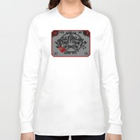 ouija Long Sleeve T-shirts featuring Ouija Board by CarloJ1956