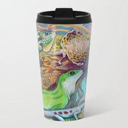A Tangle Of Lizards, Lizard Art Metal Travel Mug
