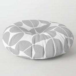Mid Century Modern Geometric 04 Grey Floor Pillow