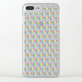 Summer Floral Pattern Clear iPhone Case