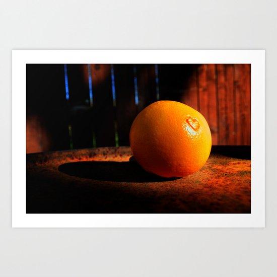 It's Not Easy Being Orange Art Print