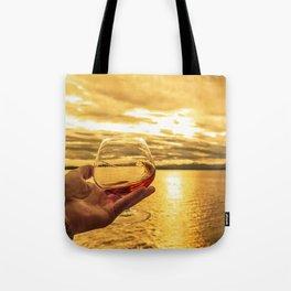 Cognac Sunset Swirl Tote Bag