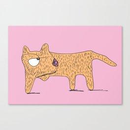 Perro Cojo / Lame Dog - pink and orange Canvas Print