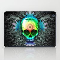 marijuana iPad Cases featuring Marijuana Psychedelic Skull by BluedarkArt