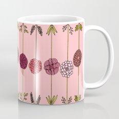 Garden Flowers Illustration - in Pinks Mug