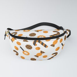 Happy halloween candies, lollipops and sweets Fanny Pack