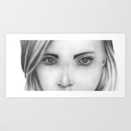 Lady's eyes drawing Art Print