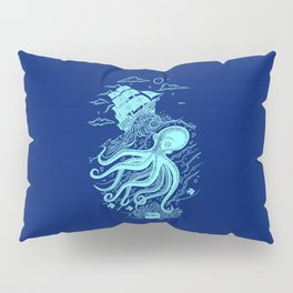 Giant Octopus and Sailing Ship Pillow Sham