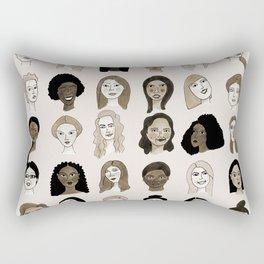Women faces in sepia palette Rectangular Pillow